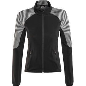 UYN Ambityon Veste Full Zip Couche intermédiaire Femme, black/medium grey/off white